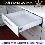 China Office furniture hardware drawer slide Soft Close Drawer slide KRS01 wholesale