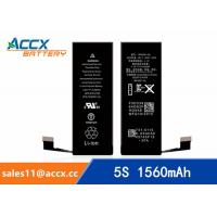 China ACCX brand new high quality li-polymer internal mobile phone battery for IPhone 5S with high capacity of 1560mAh 3.8V wholesale