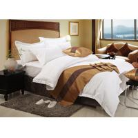 Quality White 100% Cotton Buvet Machine Wash Luxury Hotel Bed Linen 400T Beding Set for sale