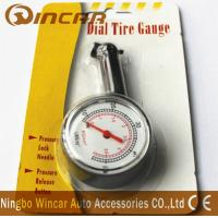 China Plastic Body Digital Tire Air Pressure Gauge , Tire Gauge With Blister Card wholesale