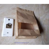 China Laminated Brown Craft Paper Bags With Transparent Window In Front For Garment wholesale
