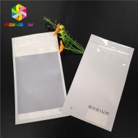 China Matte White Plastic Pouches Pack Smell Proof Heat Seal Mylar Earphone Ring Decoration Packing wholesale