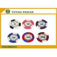 China Custom Printed Round High End Poker Chips , Authentic Poker Chips wholesale