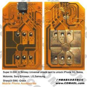 China www.cdmadl.com sell Super X-SIM IV Simkey Universal unlock card to unlock iPhone 3G,  Nokia,  Motorola,  Sony Ericsson,  LG,  Samsung,  Sharp( X-SIM) on sale