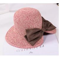 China UV Protection Washable Beach Straw Hat One Removable Flower Pin Decoration For Summer wholesale