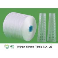 China 60S 60s /2 Spun Polyester Yarn Sewing Thread Yarn Raw White With Dyeing Tube wholesale