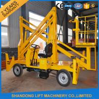 China Automatic 4 Wheels Articulated Vehicle Mounted Boom Liftfor 8m - 14m Aerial Work wholesale