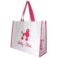 China Promotional Cute PP woven recycled grocery shopping bag White Color wholesale