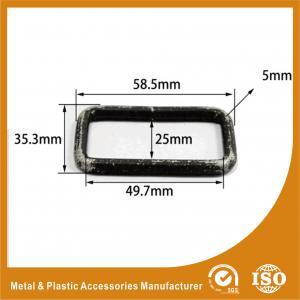 China Buckle Inner 49.7X25X5MM Black Square Ring Handbag Accessories / Handbag Parts wholesale