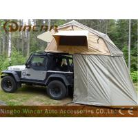China Truck Soft Car Top Tent Outdoor Waterproof 260g / 280g Canvas Material For Camping wholesale
