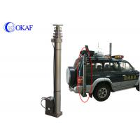 China DC 24V/12V Portable Telescopic Antenna Mast Vehicle Ground Mounted Camera Pole on sale
