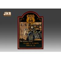 Quality Route 66 Wall Signs The Mother Road Wall Decor Antique Wooden Motorcycle Wall Plaques for sale
