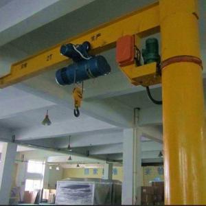 China Drawing Customized Pillar Hoist Small Jib Crane Use In Workshop Plant wholesale
