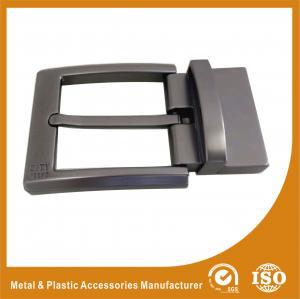 China Nickel Roller / Nickel Satin Reversible Belt Buckle GunmetalBelt Buckle RE-016 wholesale