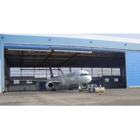 China Single Bay PEB Steel Aircraft Hangars With Electrical Roll-up Doors wholesale