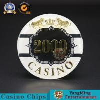 China 3-4.3MM Thinkness Custom Poker Chips Clay Ceramic Nylon Stickers 14g wholesale