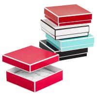 China Recyclable Colorful Kraft Jewelry Paper Boxes / Bracelet Packaging Box wholesale