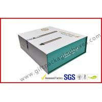 China CMYK customized paper box with golden foil magnet electronics packaging box with plastic tray wholesale