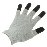 China Antistatic Cleanroom Lab 10e7 Ohms ESD Dotted Gloves wholesale