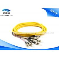 China Distribution Armored Fiber Optic Cable , E2000 APC Pigtail Optical Fiber Cable wholesale