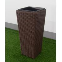 China PE rattan patio plant pot Outdoor Furnitures  , steel frame garden plant pot wholesale