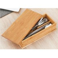 China 0.8cm Natural Color Bamboo Box , Bamboo Recipe Gift Box For Soup Ladle Fork Packaging wholesale