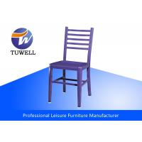 China Durable Comfortable Replica Emeco Navy Side Chair With Metal Back wholesale