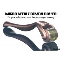 China Gold Handle Micro Needle Derma Roller for Body  /  Facial Aesthetic Skin Care wholesale