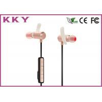 China Small Portable Bluetooth Earphones Pink With Rechargeable Lithium Polymer Cell wholesale
