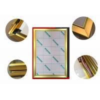 China Jewelry Display Advertising Light Box Picture Frame, Gold Color Led Poster Light Box wholesale