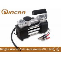 China Tyre Inflation 12v Portable Air Compressor Silver Color 32 * 15.5 * 21.5cm wholesale