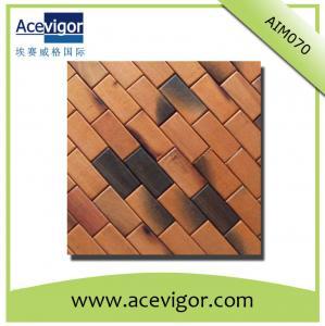 China Wall decoration mosaic wood wall tiles wholesale