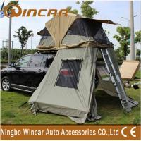 China 4x4 Waterproof Car roof top campers , 260G Ripstop Canvas Auto Roof Tent wholesale