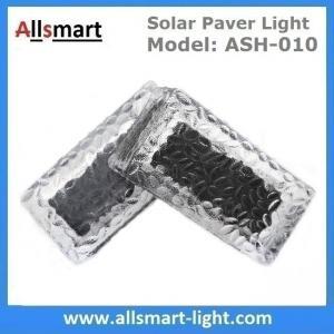 China 4x8 inch Rectangle Solar Paver Lights IP68 CE Solar Brick Lights Solar Underground Path Lights Solar In-ground Lights wholesale