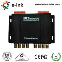 China 8 Channel Passive CCTV UTP Video Balun Transceiver Differential Signal Transmission wholesale