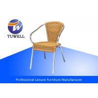 Quality Waterproof Stackable Aluminum Outdoor Wicker Chairs , Rattan Garden Chairs for sale