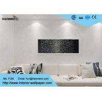 China White PVC Country Style Wallpaper With Floral Pattern For Living Room wholesale