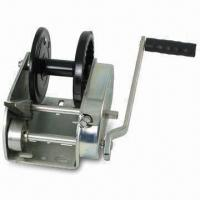 China Hand Winch with 3,500lbs Capacity, Tuff-plated Finish, Two Speeds, Direct Drive, Hand Brake wholesale