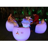 China Environmentally Friendly Bar Chairs with 16 colors LED Lighting Furniture wholesale