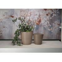 China Fade - Free Round Indoor Decorative Planters With Environmental Material wholesale