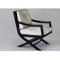 Buy cheap OAK Wood Dining Room Furniture Modern Arm Chairs With Cream Fabric Upholstery from wholesalers