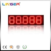 China Digit LED Gas Price Sign / Petrol Price Pylon Sign Board With Advertisement Display wholesale