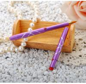 China Portable Retractable Lipstick BrushPurple Handle Purple Handle Color wholesale