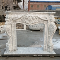 China Marble Fireplace Carrara Modern Freestanding Fireproof Stone Hand Carved wholesale