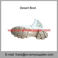 Wholesale Cheap China Military Brown Suede Army Combat Desert Boots