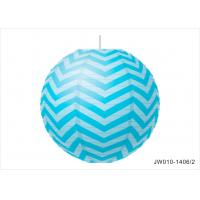 China Birthday Party Small Hanging Paper Lanterns Inside With Stripe Printed wholesale