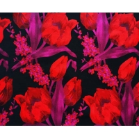 China Floral Fabric Jacquard TC Yarn-dyed H/R 21.0cm 470T/74%T/26%C/175gsm wholesale