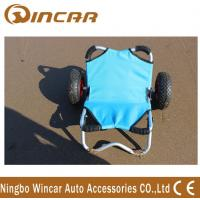China Platform Aluminium Boat Kayak Canoe Carrier , Transport Fishing Cart Wheels wholesale