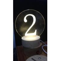 Buy cheap Acrylic laser inner carve number from wholesalers