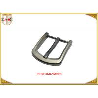 China Square Clasp Clip Pin Nickel Color Metal Buckle For Men's Leather Belt wholesale